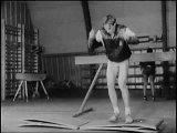 Тренировка лыжников гонщиков в летний период.