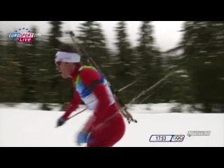 Биатлон. Олимпийские игры в Ванкувере 2010. Мужчины. Гонка преследования. Евроспорт