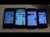 Сравнение браузеров Samsung GT-I8700 Omnia 7, HTC Desire HD, Samsung GT-I9000 Galaxy S и Samsung GT-S8500 Wave
