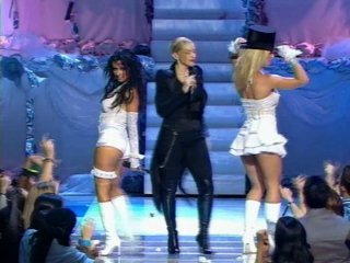 Mad, Brit, Xtina, Missy - Like a Virgin/Hollywood Medley (2003 MTV VMA Performance)