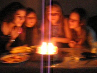 Birthday)  Cut two, all blow out the candles ..♥..