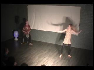 Танцевальный перфоманс (исполнители Светлана Рыманова и Александр Бочагов)
