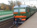 ЭР2Т-7133,электропоезд с зацеперами!