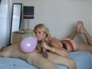 Balloon Blow to Pop Hand Job