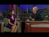 Salma Hayek on the Late Show with David Letterman