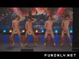 Naked boy dancers in got talent show))))