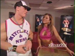 John Cena Dawn Marie Backstage (WWE SmackDown! 29.01.2004)