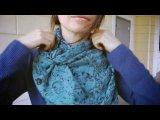 Как завязывать шарфы, платки, палантины