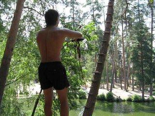 Прыжок с тарзанки в Тулиновке