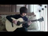 Beat it Парень клёво играет на гитаре!!!Исполняет песню Майкла Джексона)))))