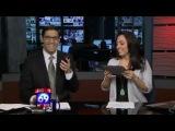 Юмор   Ведущую шоу обманом уговорили лизнуть iPad в прямом эфире