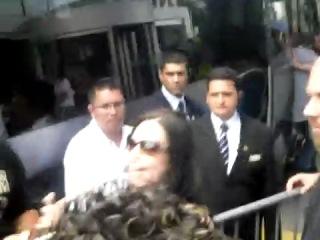 Amy Lee no Brasil - Hilton Hotel (hora de dar tchau :P)
