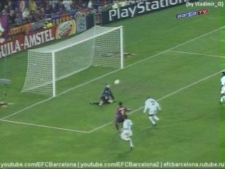ЛЧ 2000-2001. 1-й гр. этап. 1 тур. Барселона - Лидс 4:0 (Обзор)