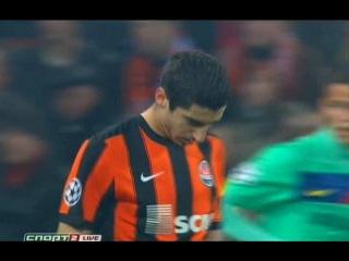 Лига Чемпионов 2010/2011 | 1/4 финала | Ответный матч | Шахтёр (Украина)- Барселона (Испания) | Спорт 2(1 тайм) http://video-r