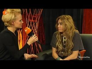 Майли Сайрус интервью с ZDF[6.11.08]