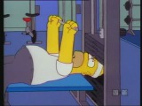 Гомер показывает, как надо качаться