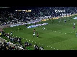 Кубок Испании 2010-2011 / 1/4 финала / Ответный матч / Бетис - Барселона 1 тайм