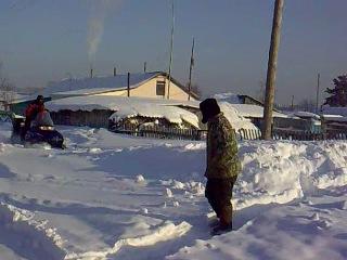 Село Полковниково ,снегоход PALARIS