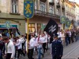 Украинский фашизм. Марш в память дивизии СС «Галичина». Львов 2011 год.