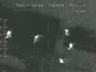 Ночная съемка с вертолета над Чернобылем