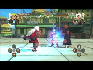 Гемплей- Naruto: Ultimate Ninja Storm 2 - Jiraya VS Naruto
