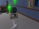 Глюк в Симс 2 Pets,Кошка летает и лапы передние наверху(на спине)ГЛЮК!!
