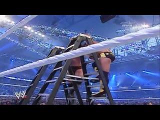 Randy Orton RKO Off The Ladder - HD Wrestlemania 23