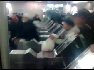 НОВЫЙ ГОД. Нападение животных на Московское метро.. Черножопая  Армия Пууутина :)))