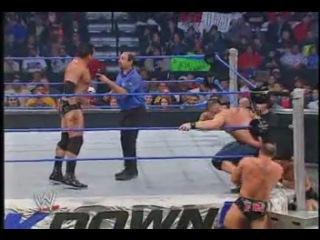 John Cena and Chris Benoit Vs. F.B.I. (WWE SmackDown! 01.01.2004)