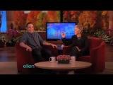 Jim Parsons Get Scared by a Spider on Ellen DeGeneres Show 08-Nov-2010