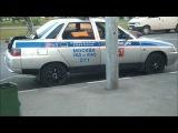 Скутерист врезался в Деу Нексия на Медынской улице (3.06.11)