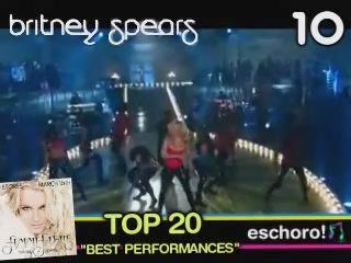 Топ 20 лучших выступлений Бритни Спирс по версии сайта Eschoro!