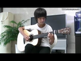 Игра на гитаре(Вольфганг Амадей Моцарт – Музыка Ангелов)Очень красиво.