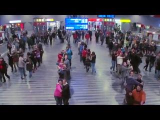 Flash mob na hlavni nadrazi,Praha