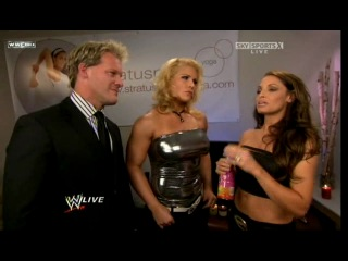 Trish Stratus, Chris Jerico & Beth Phoenix - WWE RAW 2009