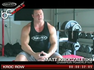 Muscletech 60 seconds on muscle matt kroczaleski- kroc row