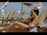 Sedef Avcı cansu dere bikini siyah beyaz - EZEL