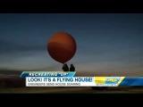 Летающий дом на воздушных шарах!