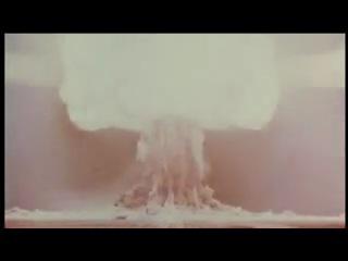 Взрыв Царь-Бомбы (Первая Советская водородная бомба). Супермощь!!!
