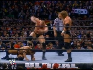 WWE-Triple H vs The Rock vs Brock Lesnar for the WWE Undisputed Champion