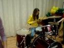 Барабаны мы с Викой_