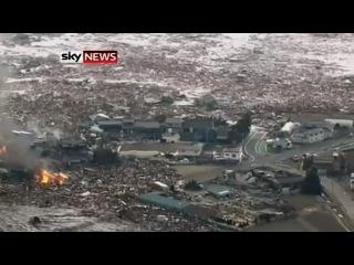 Смотреть видео цунами в японии