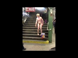 Crazy Naked Guy on the 6 Train