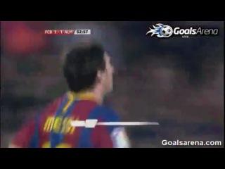 Чемпіонат Іспанії, 31 тур, 09.04.2011 Барселона - Алмерія 3-1 (Мессі 53 з пен. 92, Тіаго 64 - Корона 50)