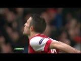 гол Ван Перси в матче с Барселоной