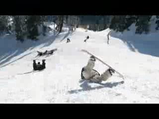 Веселая жизнь сноубордистов