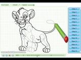 Как рисовать Симбу (из м/ф