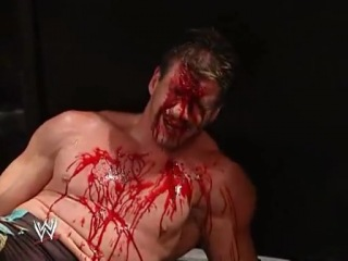 JBL slams a folding chair over Eddie Guerrero (BLOODY)_(480p)