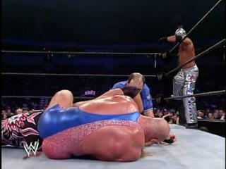Kurt Angle and Chris Benoit vs Rey Mysterio and Edge (No Mercy 2002, Tag Team Match)