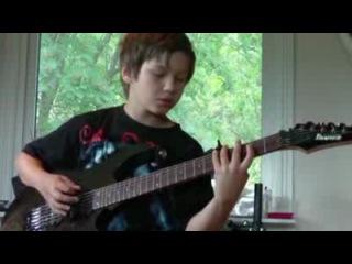 Малый нереально играет на гитаре песню Children of Bodom Trashed, Lost & Strungout
